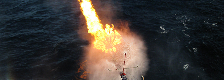 Offshore well testing banner